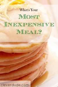 frugal food, inexpensive meal, pancakes