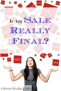 sale options, sale tips, final sale