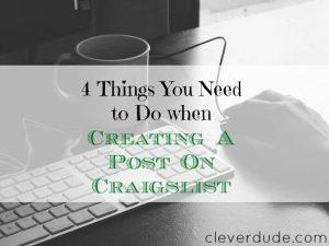 craigslist tips, creating a post on craigslist, craigslist posting advice
