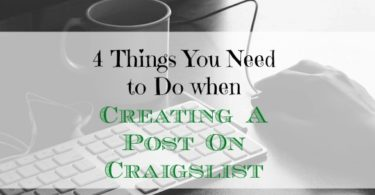 craigslist tips, creating a post on craigslist, craigslist posting advice