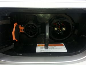 Standard and CHAdeMO charging ports