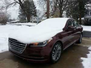 The Genesis did NOT play nice in the snow!