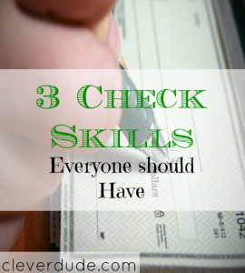 check skills tips, checking account tips, checkbook tips