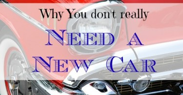 purchasing a new car, buying a new car, why you don't need a new car