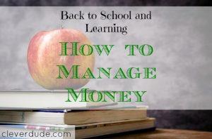 managing money, money management, school budget
