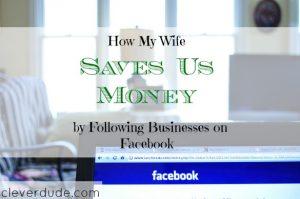 saving money on Facebook, saving money on the internet, coupons on Facebook