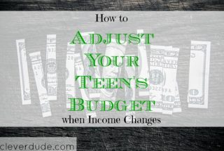 teens budget, adjusting finances, teenager advice