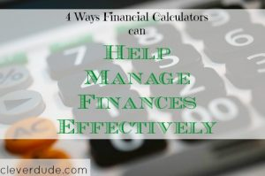 financial calculator, financial advice, managing finances