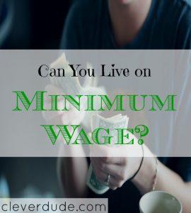 minimum wage tips, living on minimum wage, how to live on minimum wage