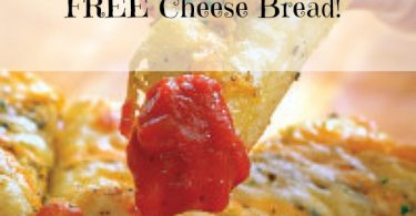 free cheese bread, free bread, papa murphy's