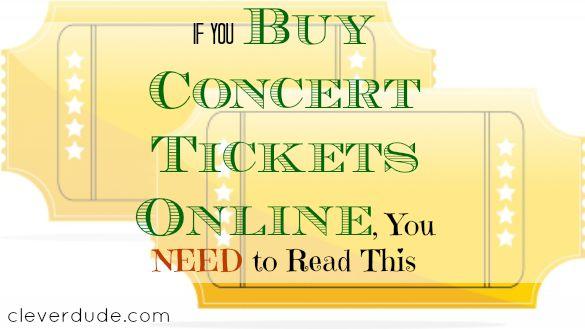 online tickets, buying concert tickets, concert tickets
