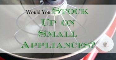stocking on appliance, appliance tips, appliance advice
