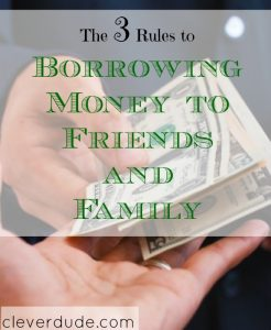 financial advice, borrowing money, money rules