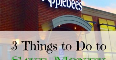 save money at restaurants, eating out, save money at applebee's