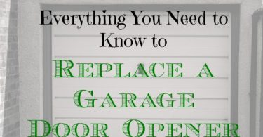 replacing a garage door, fixing a garage door, how to replace a garage door