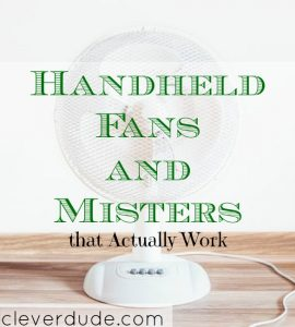 ways to cool down this summer, handheld fans, cooling down tips