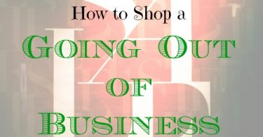 sale shopping tips, shopping on going out of business sales, shopping tips