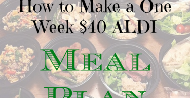 meal planning tips, meal plan ideas, aldi meal planning