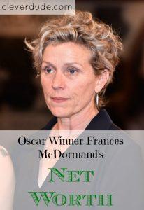 celebrity net worth, net worth series, Frances McDormand