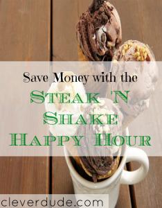 Steak 'n Shake, happy hour, happy hour places