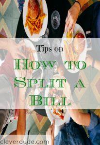 restaurant etiquette, eating out tips, splitting a restaurant bill