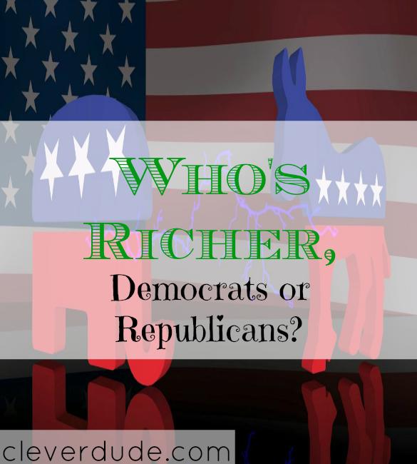 democrats, republicans, who's richer, American political parties