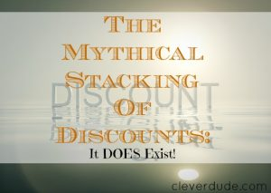 stacking discounts, discounts, discounts tips