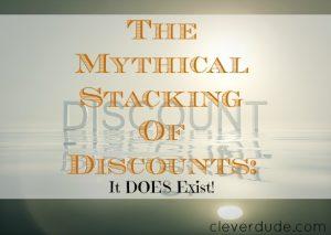 stacking discounts, discounts, discounts tips