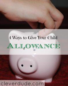 parenting tips, giving allowance to children, children's allowance