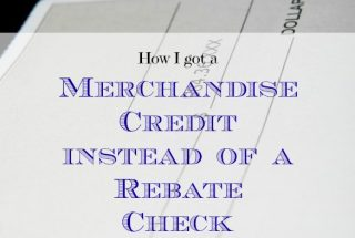merchandise credit, Menard's, getting a rebate