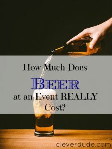 beer prices in events, beer prices, beer