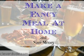 New Year's savings, meals at home, fancy meals and save