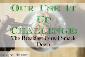 breakfast challenge, frugal breakfast, using it up challenge