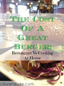 homemade food, burger costs, cooking at home
