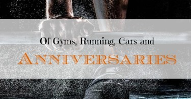 celebrating the blog's anniversary, new gym, going on running
