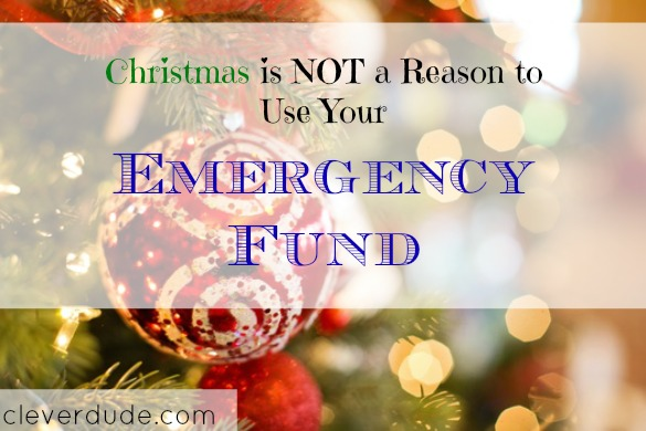 christmas fund, emergency fund, christmas expenses