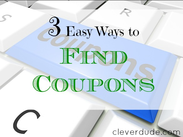 finding coupons, couponing, coupons