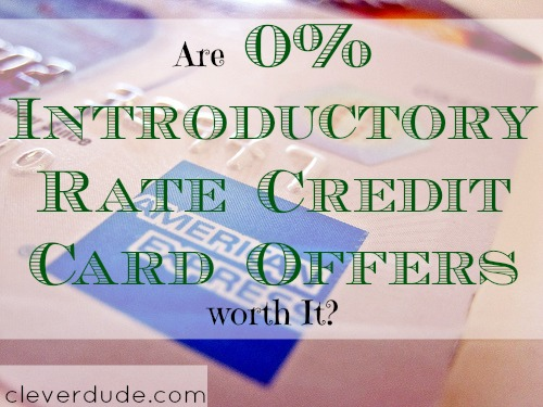 credit card, introductory offer, introductory rate
