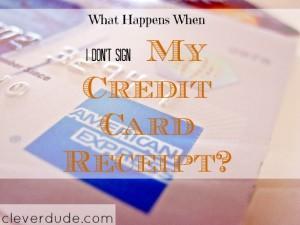 credit card tips, credit card receipt, credit card