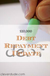 debt repayment update, paying off debt, debt pay off