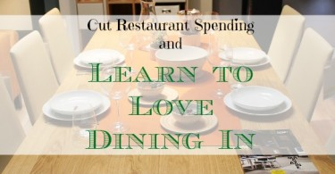 dining at home, save money by eating at home, eating food at home saves money