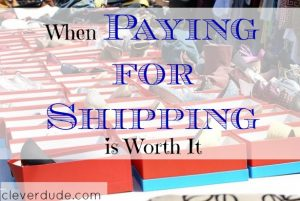 shipping costs, paying for shipping, shipping fees
