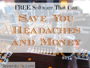 free software, save money on software, saving money on computer programs