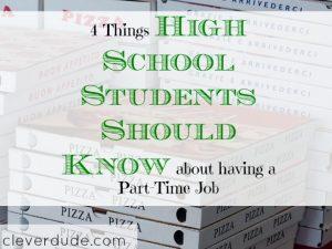 part-time job, teenager advice, parenting tips