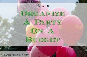 party on a budget, budget parties, frugal party
