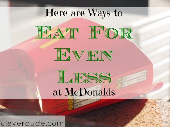 eat for less, mcdonalds discounts, mcdonalds promo