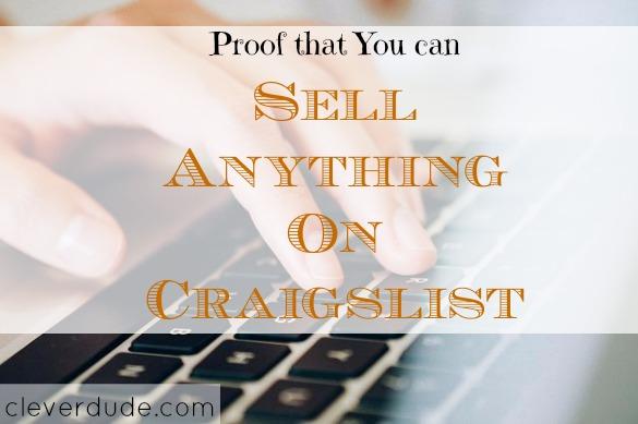 craigslist, selling items online, selling items on Craigslist
