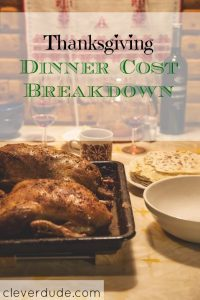 thanksgiving expenses, thanksgiving cost breakdown, thanksgiving dinner costs