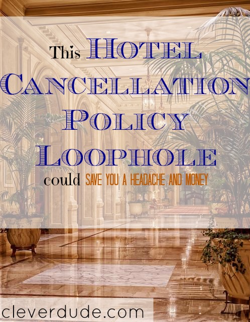 hotel cancellation policy, hotel policy, travel