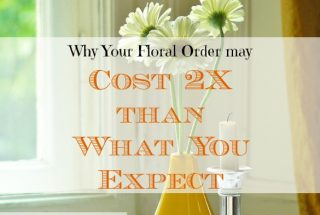 floral arrangement costs, floral arrangement expenses, floral order costs